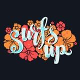 Surf lettering print Stock Image