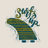 Surf lettering print Royalty Free Stock Photo