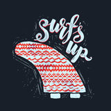 Surf lettering print Stock Photo
