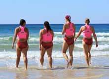 Surf life saving championship. April 2013 Australi Royalty Free Stock Image