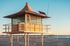 Surf life saving tower. At Glenelg Beach, South Australia Stock Image