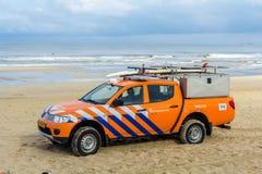 Surf life saving vehicle on the beach Royalty Free Stock Image