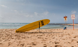 Surf lifeguard station. A surf rescue station on a Hawaiian beach Royalty Free Stock Photos