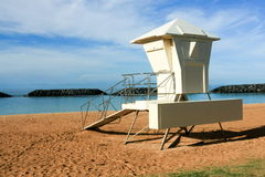 Surf lifeguard tower at Ala Moana Park, Honolulu. Royalty Free Stock Photos