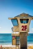 Surf lifesaver's observation hut Stock Images