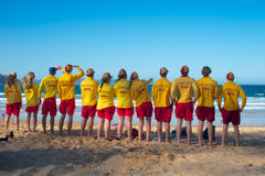 Surf lifesavers at Palm Beach, Sydney, Australia Stock Photos