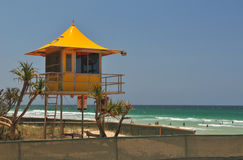 Surf Lifesaving Hut Stock Photo
