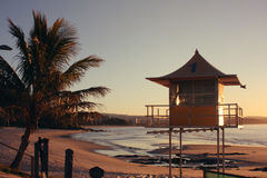 Surf Lifesaving Tower at Rainbow Bay Royalty Free Stock Photo
