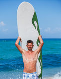 Surf man Royalty Free Stock Photography