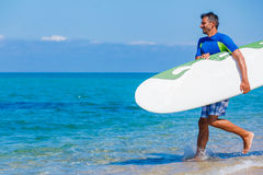Surf man Royalty Free Stock Images