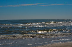 Surf at Matagorda Beach. Surf rolling in at Matagorda, Texas stock photography