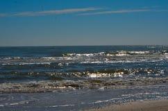 Surf at Matagorda Beach. Surf rolling in at Matagorda, Texas Stock Photography
