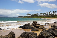 Surf on a Maui Beach Stock Image