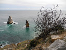 Surf near Cape Fiolent. Crimea Royalty Free Stock Images