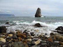 Surf near Cape Fiolent. Crimea Stock Image