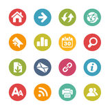 Surf the Net Icons -- Fresh Colors Series Royalty Free Stock Photography