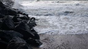 Surf of the North Sea stock video footage
