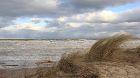 surf Onda forte com céu colorido imagens de stock