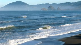 Surf of pacific west coast Royalty Free Stock Images