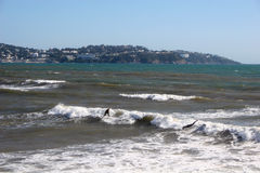 Surf on Paignton beach Royalty Free Stock Images