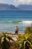 Surf photographer. At Long Beach, Kommetjie, South Africa Stock Photography