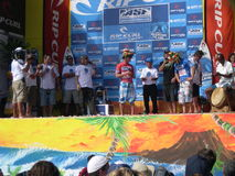 Surf podium on Reunion island Stock Photography