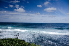Surf at Point La Jolla on a sunny morning Stock Images