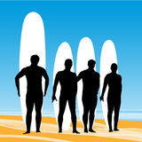 Surf pose Stock Photos