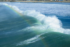 Surf and rainbow Stock Photos