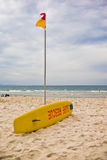 Surf rescue board at beach Royalty Free Stock Photography