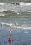 Surf rescue flag stock photo