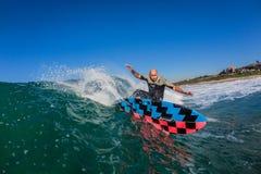 Surf Rider Close Water-Photo Royalty Free Stock Photo