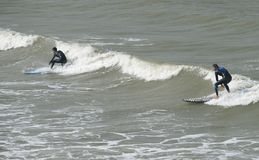 Surf riding in Taiwan. Royalty Free Stock Photography