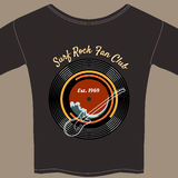 Surf Rock tee shirt Stock Photo