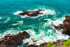 Surf in Rocks Royalty Free Stock Photo