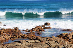 Surf Rolling in at Margaret River Royalty Free Stock Photos