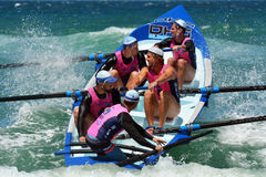 Surf rowers on Gold Coast Queensland Australia Royalty Free Stock Image