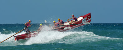 Surf rowers on Gold Coast Queensland Australia Stock Images