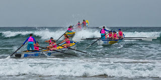 Surf rowing competition Royalty Free Stock Photo