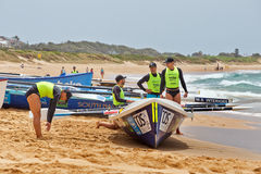 Surf rowing competition Stock Photography