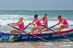 Surf rowing competition Stock Image