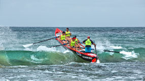 Surf rowing competition Royalty Free Stock Image