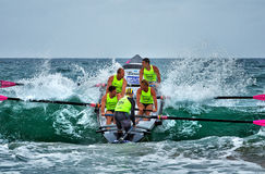 Surf rowing competition Stock Photo