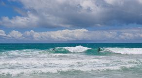 Surf at Scarborough Beach, Western Australia Stock Image