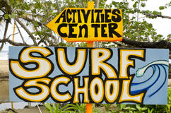 Surf school Royalty Free Stock Photo