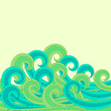 Surf Sea waves Greeting Card Royalty Free Stock Images