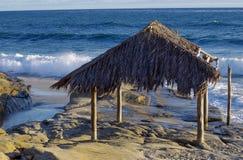 The Surf Shack on Windansea Beach, La Jolla stock image