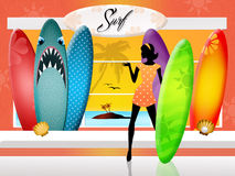 Surf shop Stock Image