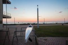 Surf-Ski Canoe Ocean Dawn Trestle  Stock Photography
