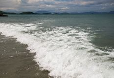 Surf on the South China Sea. Storm. Stock Photo